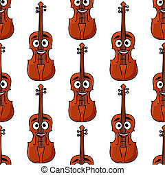 Seamless pattern of classical violins