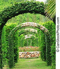 Pergola and in a garden ,at western Thailand