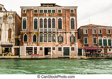 Slum in venice - old and pictoresque buildings in Venice,...