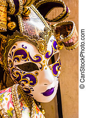 Venice mask - some typical venetian masks in a shop in...