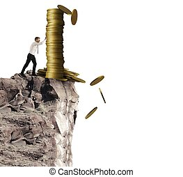 Throwing money - Concept of throwing money with businessman...