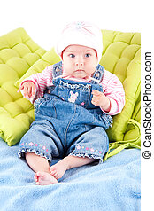 Baby girl - Cute baby girl dressed in jeans