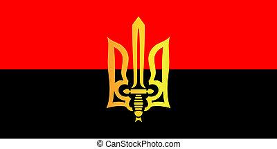 Ukrainian red-black flag - color pattern of red-black flag...