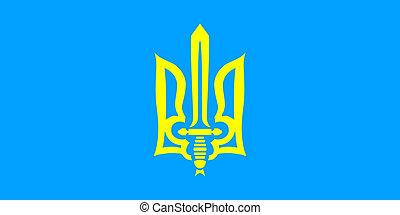 Flag Organization of Ukrainian Nationalists - color...