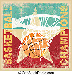 basketball champion poster