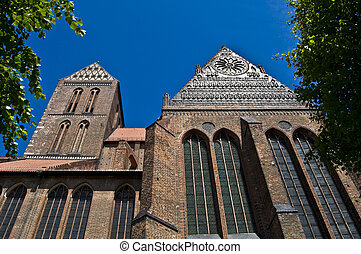 Nikolaikirche - detail of the Nikolaikirche in the city...