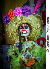 La Calavera Catrina, traditional personage of Mexican Day of...