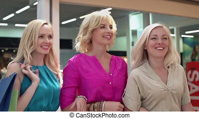 Over the Moon - Three immaculate blonds trotting through the...