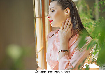 Smart woman in the luxury apartment - Smart lady in the...