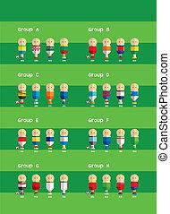 football players cartoon - football players team vector...
