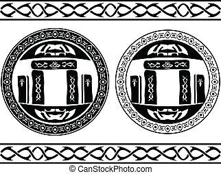 ancient magic stones. vector illustration