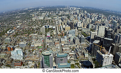 Toronto aerial view, photo taken from CN Tower