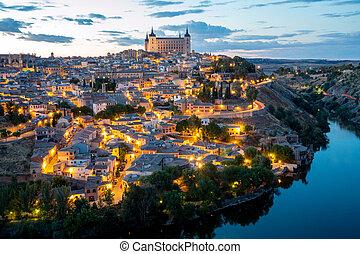 Toledo Cityscape at dusk Spain