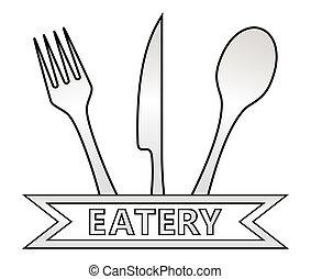 métal, eatery, Symbole, blanc, fond