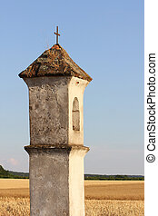 Wayside - Christian symbol, wayside in the countryside at...
