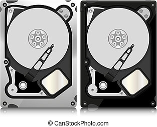 hard disk abstract vector illustration isolated on...