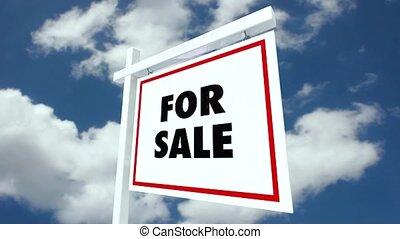 Real Estate House Sale Sign Sold - A real estate house for...