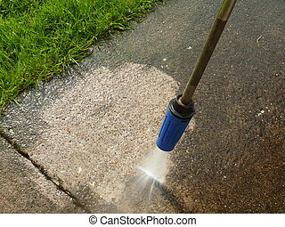 cleaning with water pressure
