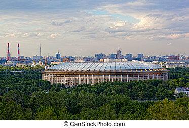 Big sports arena Luzhniki, Moscow, Russia