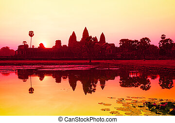 Angkor Wat sunrise at Siem Reap Cambodia