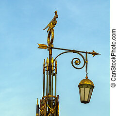 Streetlamp on Panteleymonovsky Bridge across the Fontanka...
