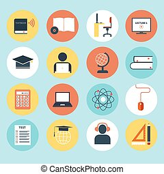 E-Learning Icons - Set of detailed icons about e-learning....