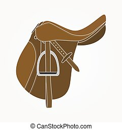 Horse Saddle - Detailed realistic horse saddle illustration...