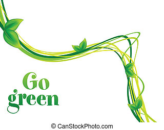 abstract go green background vector