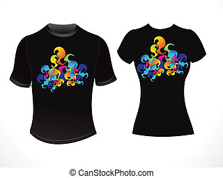 abstract colorful tshirt template