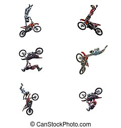 Motocross Jumps Series - Series of motocross riders...