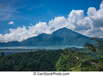 Old Indonesian volcano landscape - Landscape with old...
