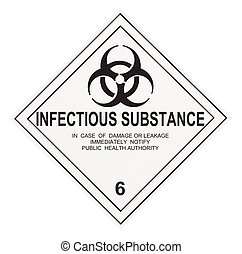 Infectious Substance Warning Label - United States...