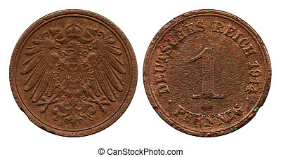 one pfennig, German Raich, 1914