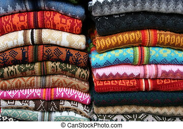De lana, suéteres, Mercado