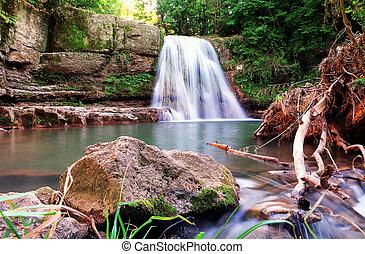 waterfall, Bulgaria - waterfall, located in Ivanili ,near...