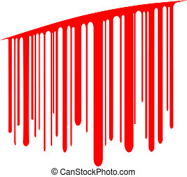 Cut price - Editable vector design element of blood dripping...