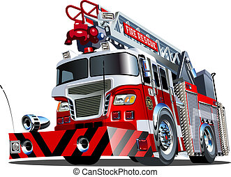 Vector cartoon firetruck Available EPS-10 vector format...