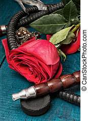 shisha - composition with shisha and accessories