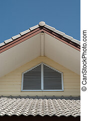 Gable - A beautiful gable in european style with blue sky
