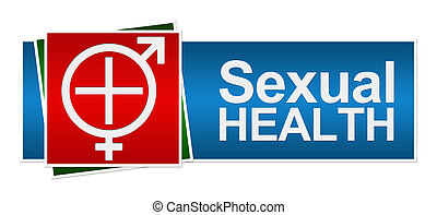 Sexual Health Red Green Blue Banner - Sexual Health Symbol...