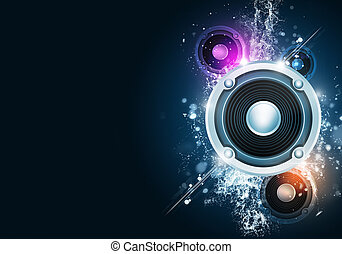 Music Party Blue Background - party music background for...