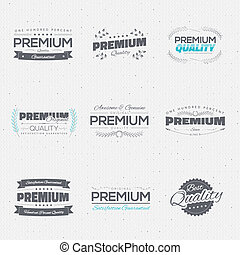 Vintage premium quality stickers and elements vector...
