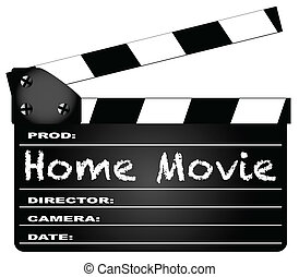 Home Movie Clapperboard - A typical movie clapperboard with...