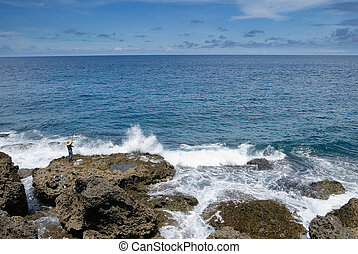 coral reef rock coastline - It is a beautiful coral reef...