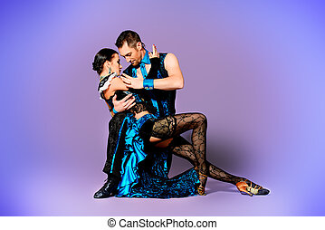 entertainment - Beautiful professional dancers perform tango...