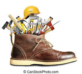 ferramentas, construção