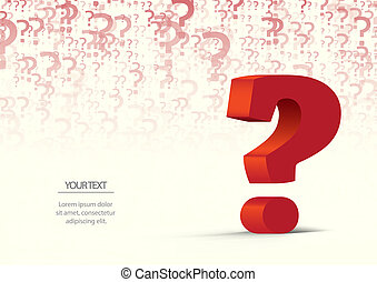 question mark - colorful question mark with the possibility...