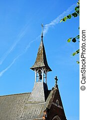 Church spire, Warwick - St Mary Immaculate Roman Catholic...