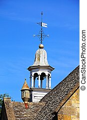 Clock tower, Chipping Campden. - Clock tower on top of the...