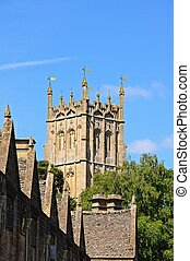 St James church, Chipping Campden. - St James church tower...